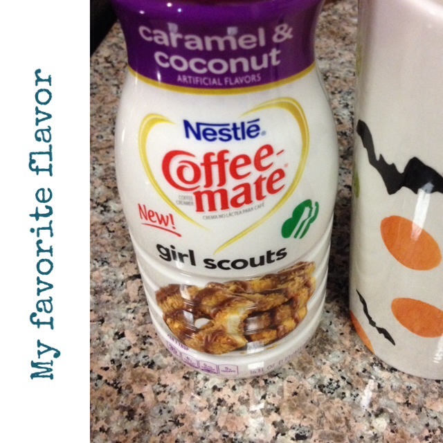 Is that coffee or a Girl Scout cookie?